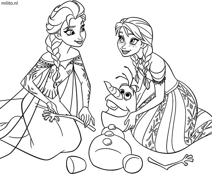Genoeg Frozen Princess Coloring Pages - Democraciaejustica #AQ07